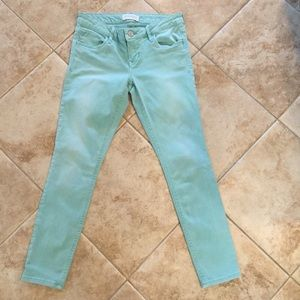 🐠 EXPRESS Light Turquoise JEANS Size 2